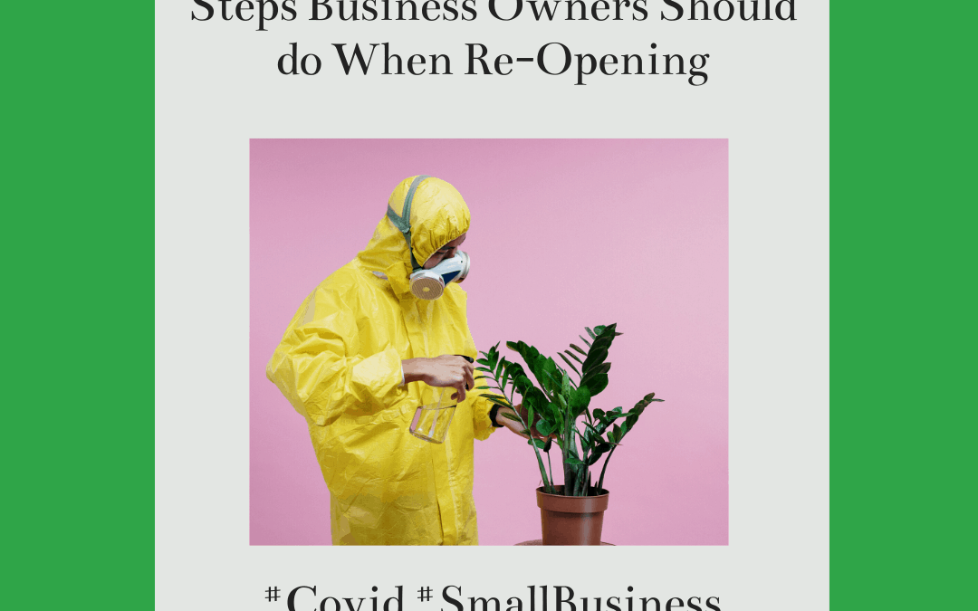 Steps Business Owners Should do When Re-Opening